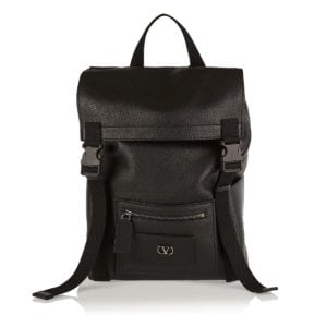 Vlogo grainy leather backpack