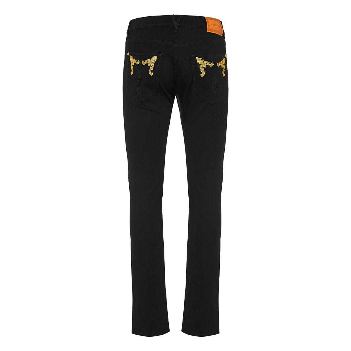 Baroque embroidered slim-fit jeans