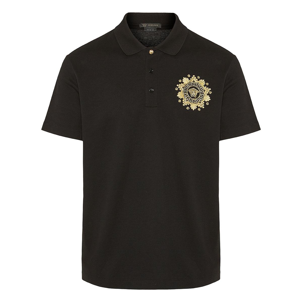 Medusa embroidered polo shirt
