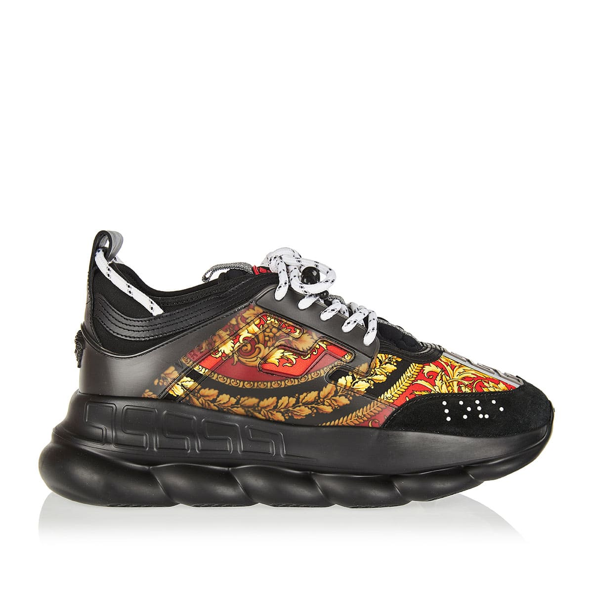 Chain Reaction baroque print chunky sneakers