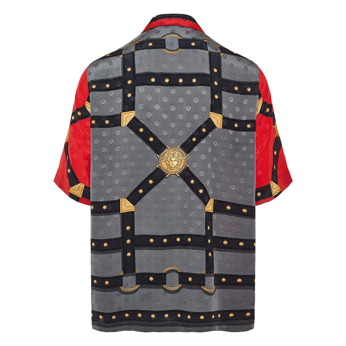 Harness-printed jacquard shirt