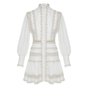 Super Eight Corded embellished mini dress