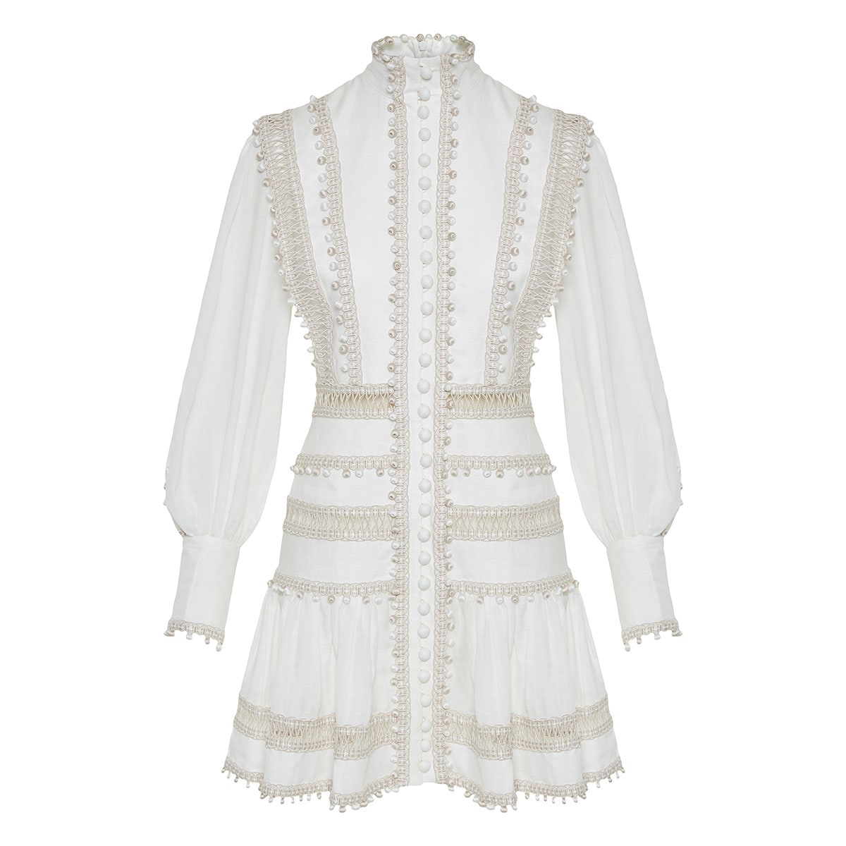 Super Eight Corded embellished mini dress