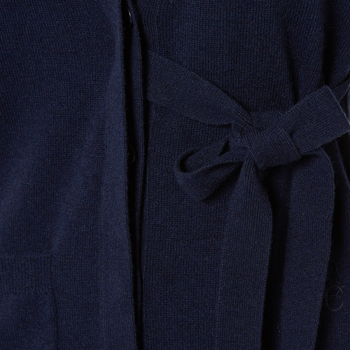 Cardigan with side bow-ties