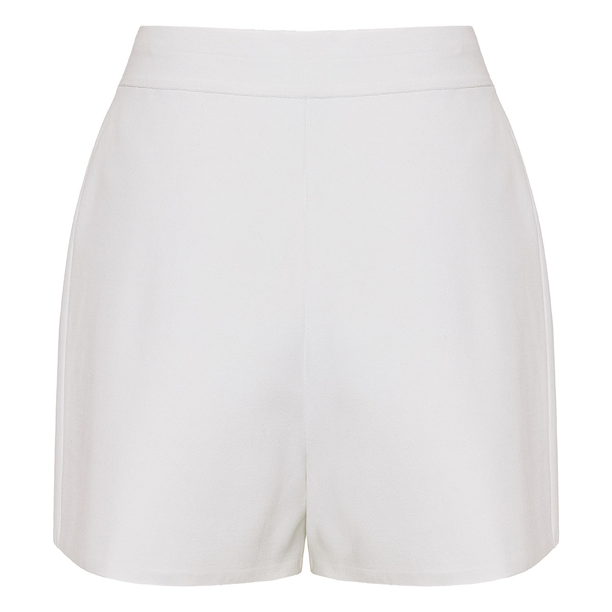 High-waist darted shorts