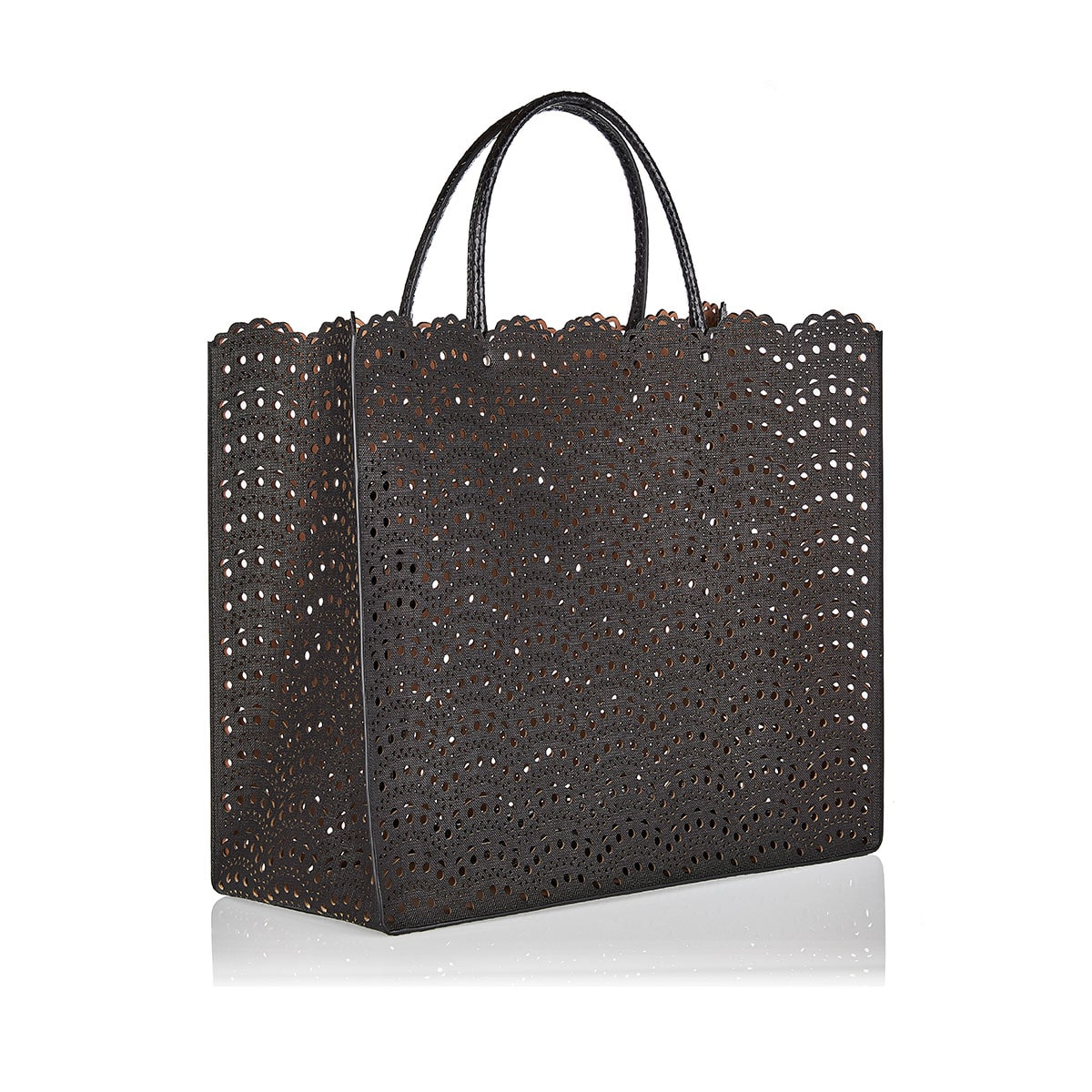 Garance perforated leather large tote