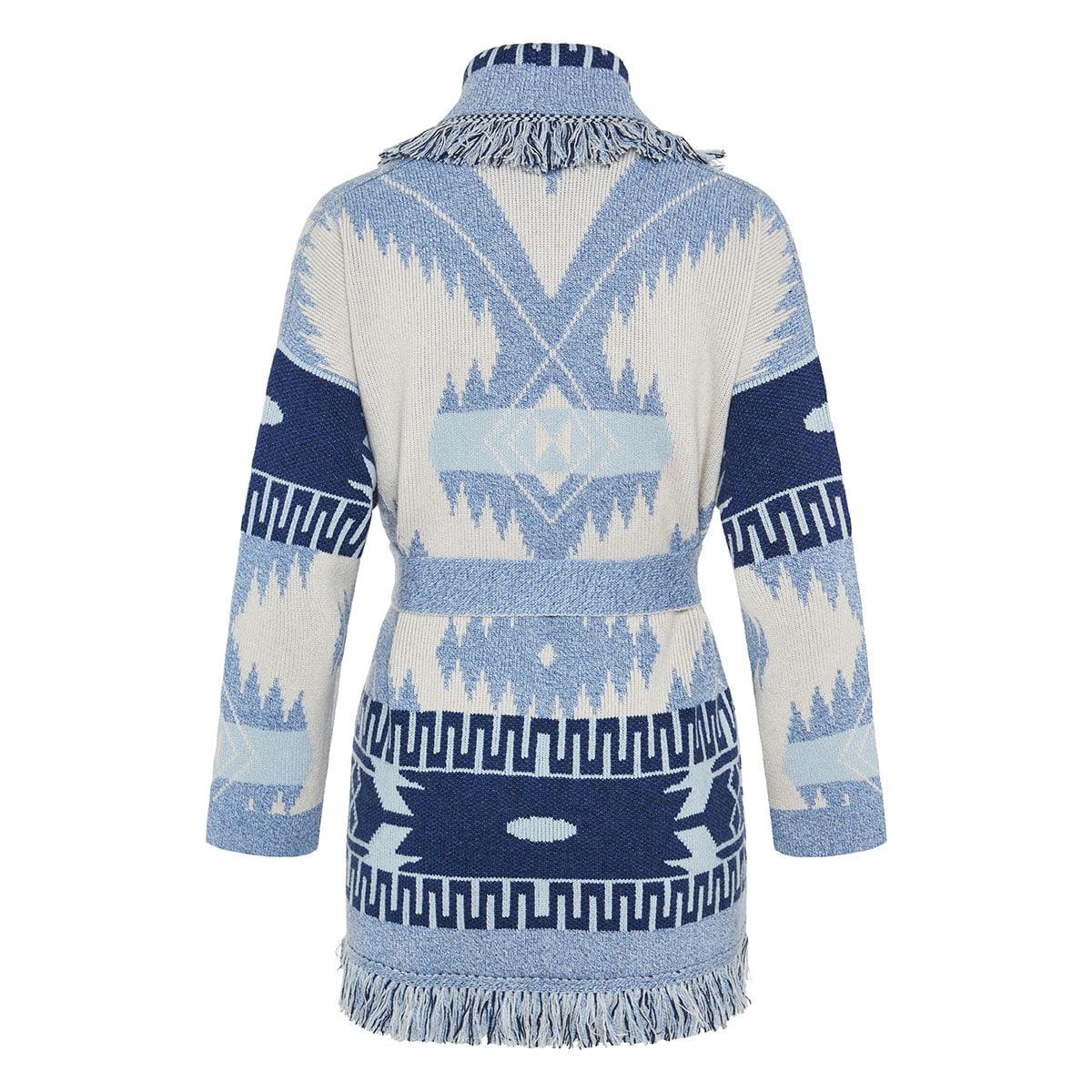 Oversized jacquard cashmere cardigan