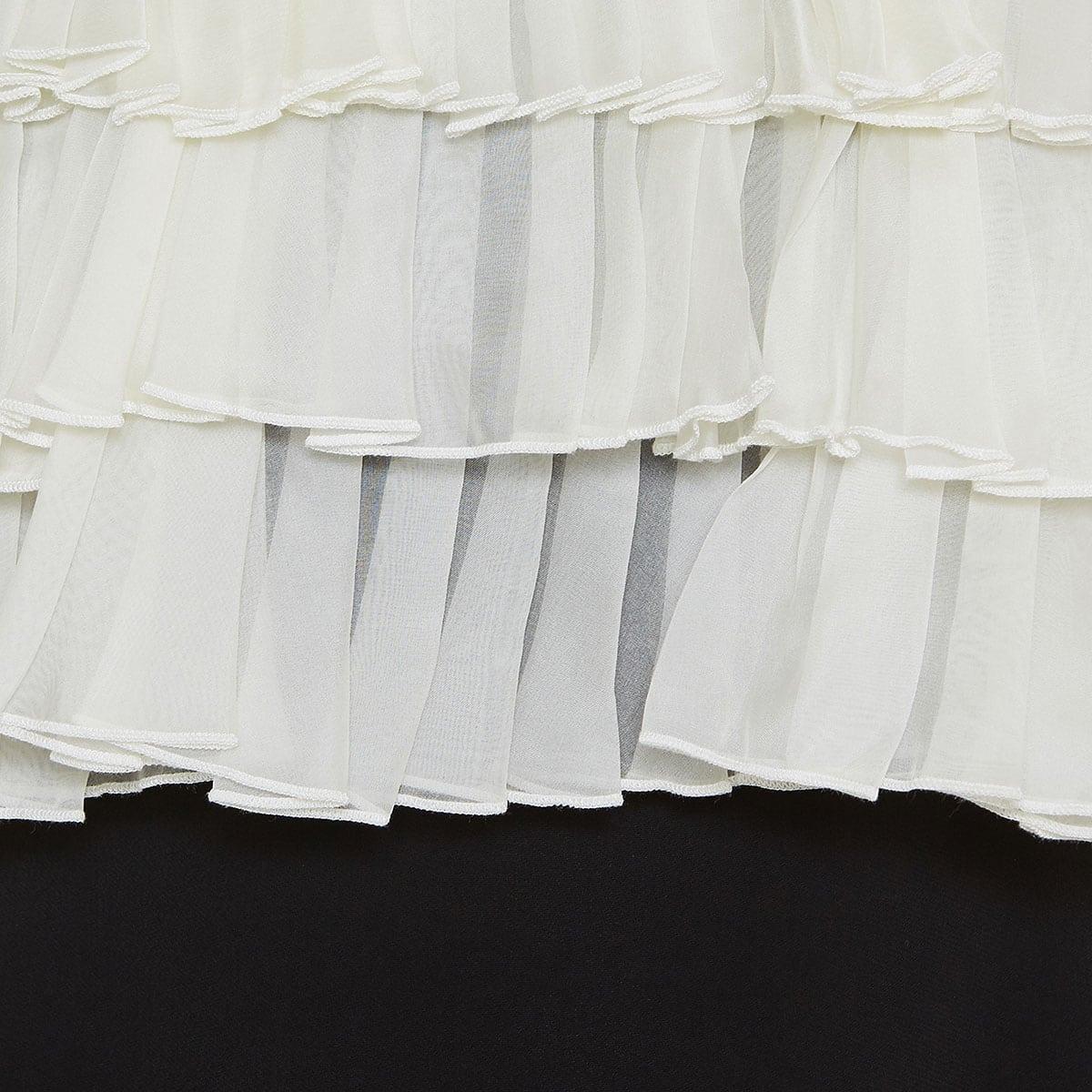 Two-tone ruffled mini dress