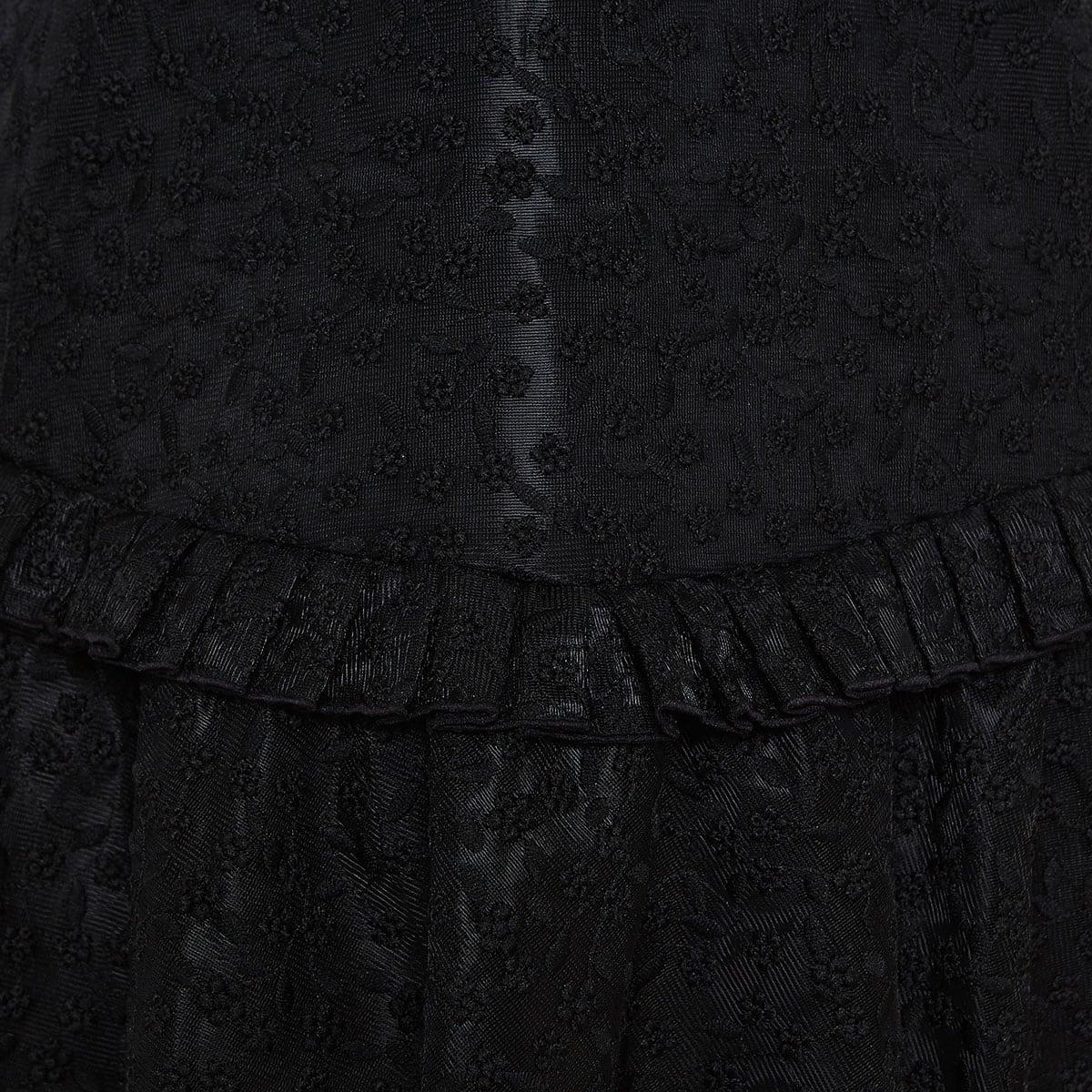 Estella embroidered flounced mini dress