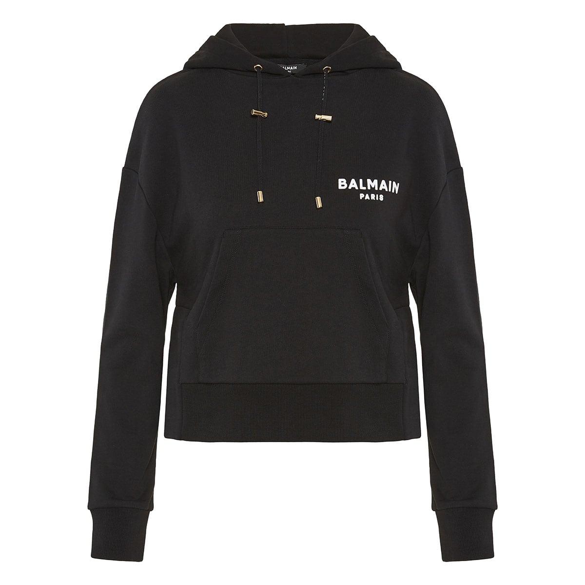 Cropped logo hoodie