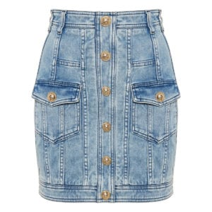 Denim mini skirt