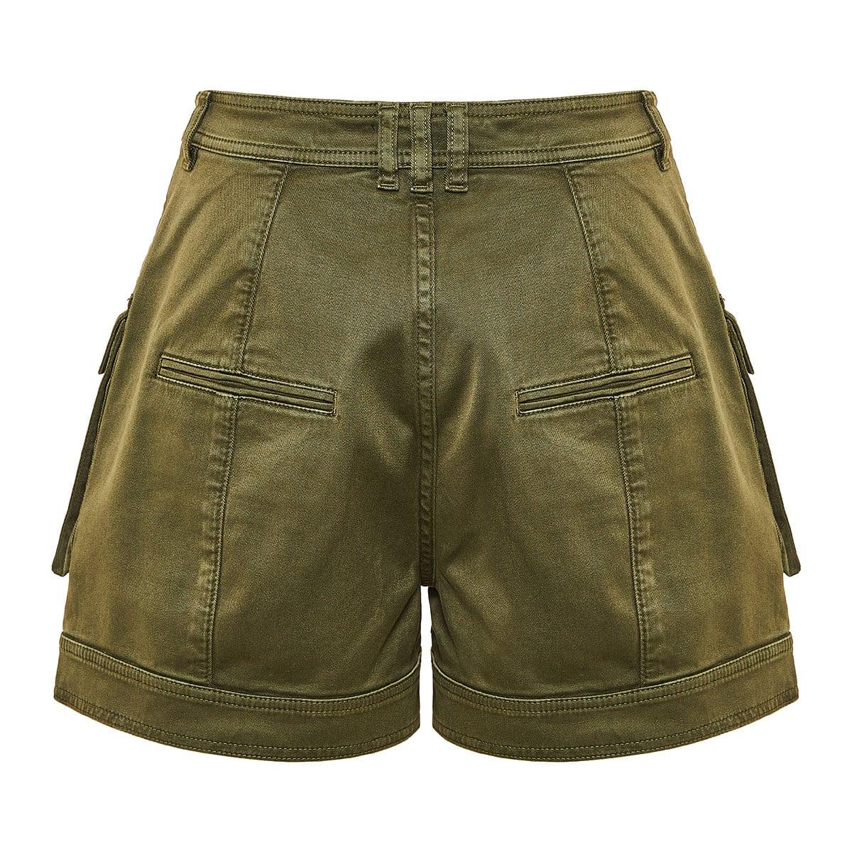 High-waist cargo shorts