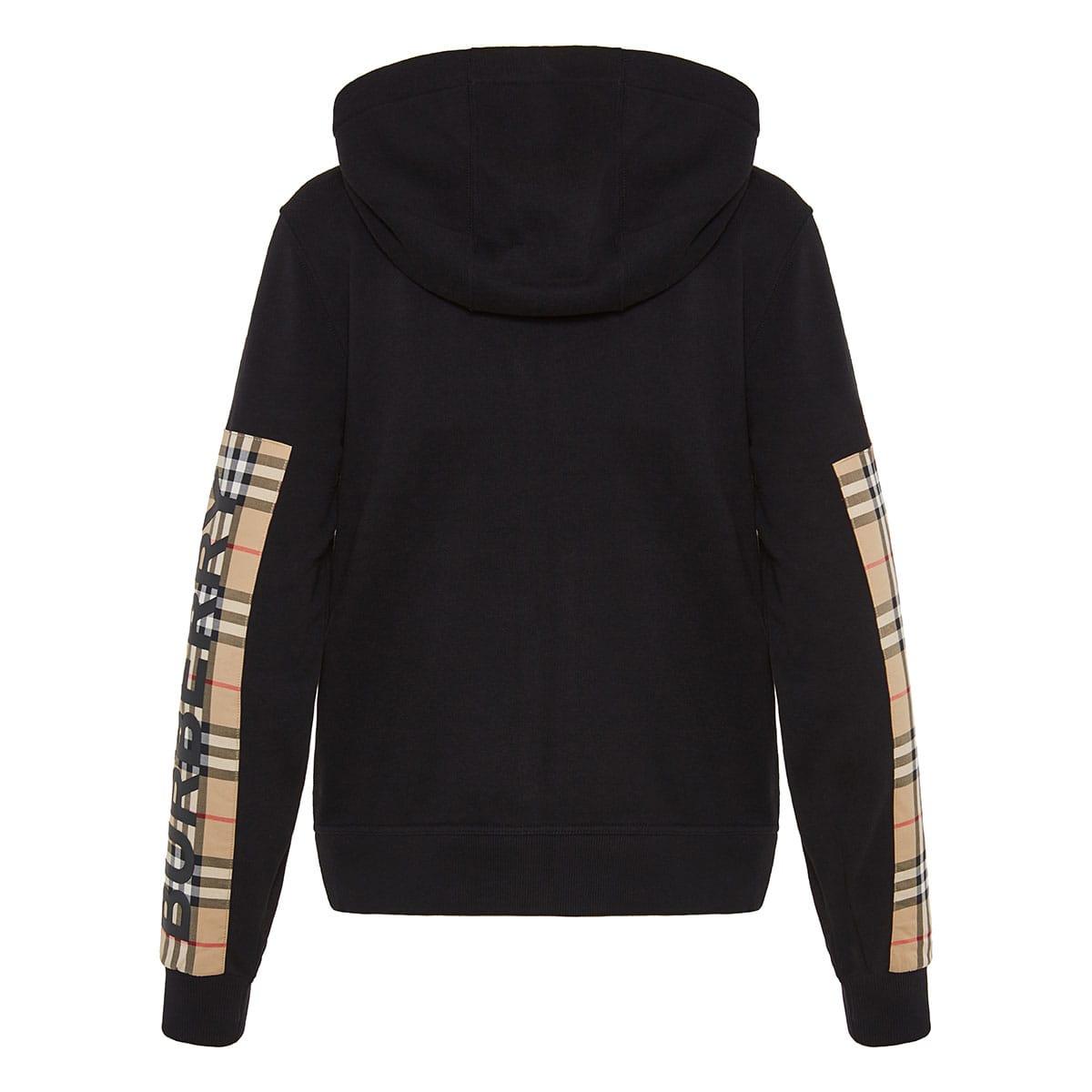 Vintage Check oversized zip hoodie