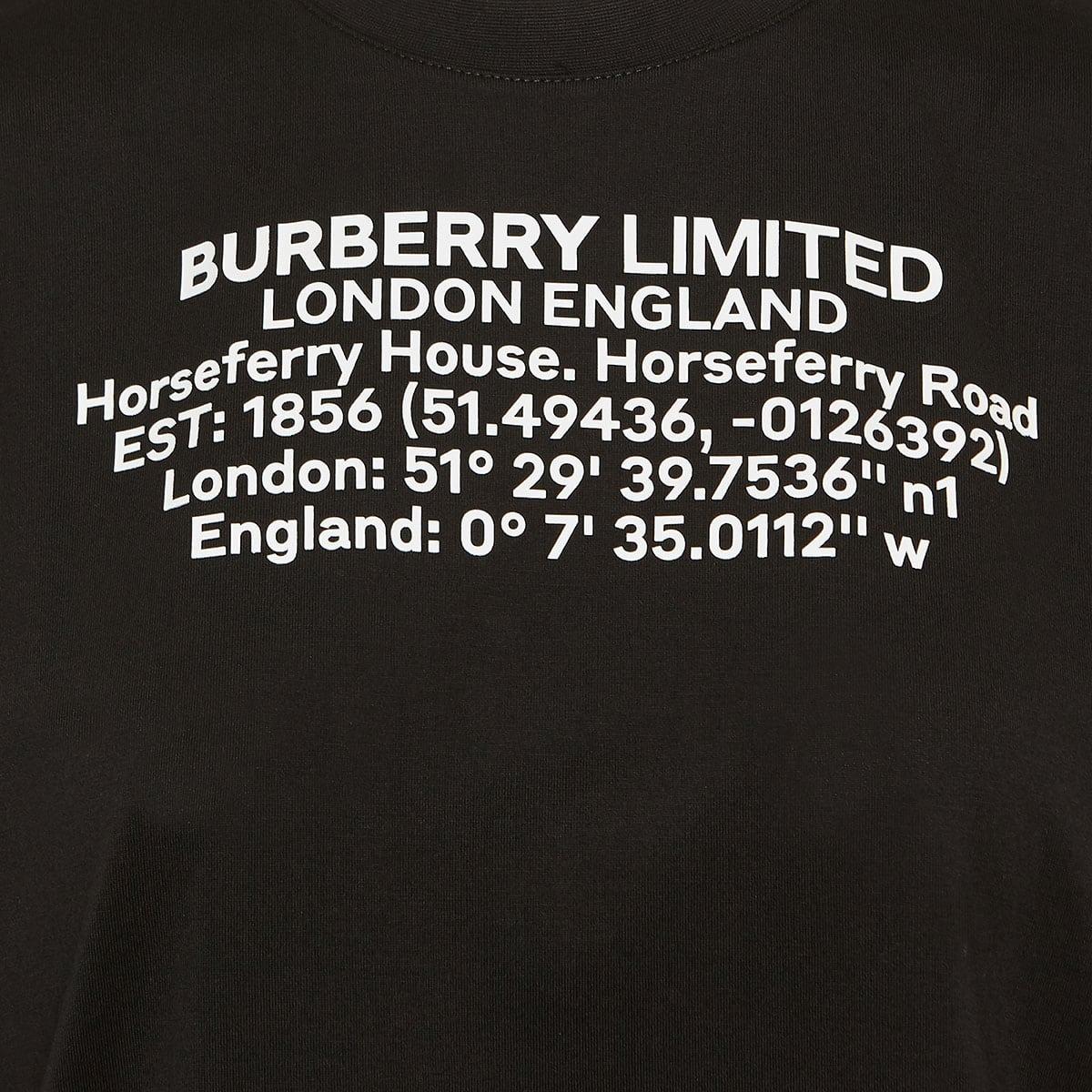 Oversized location print t-shirt