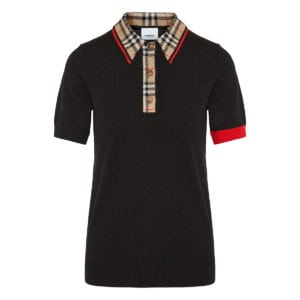 Vintage Check ribbed polo shirt