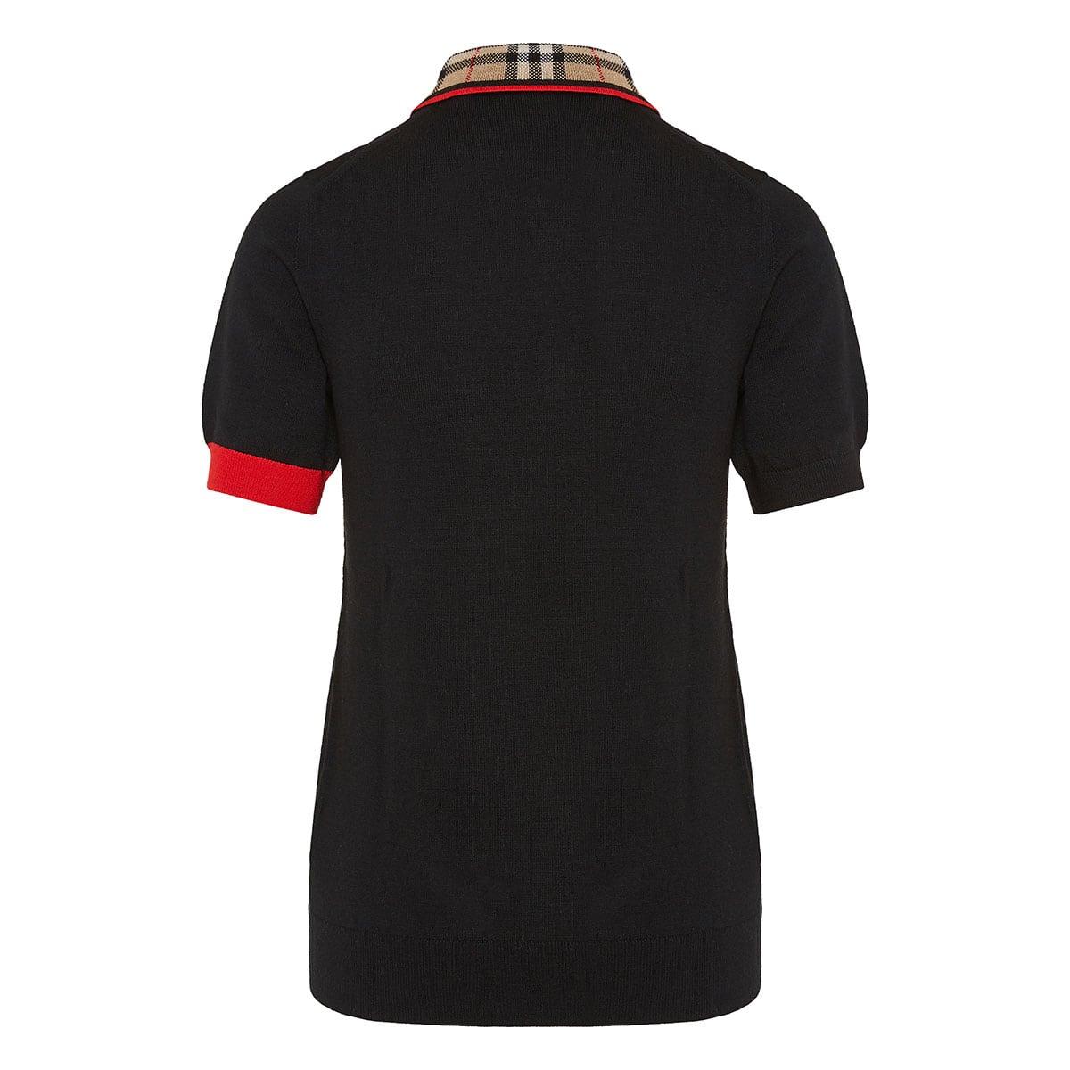 Vintage Check ribbed polo shirt