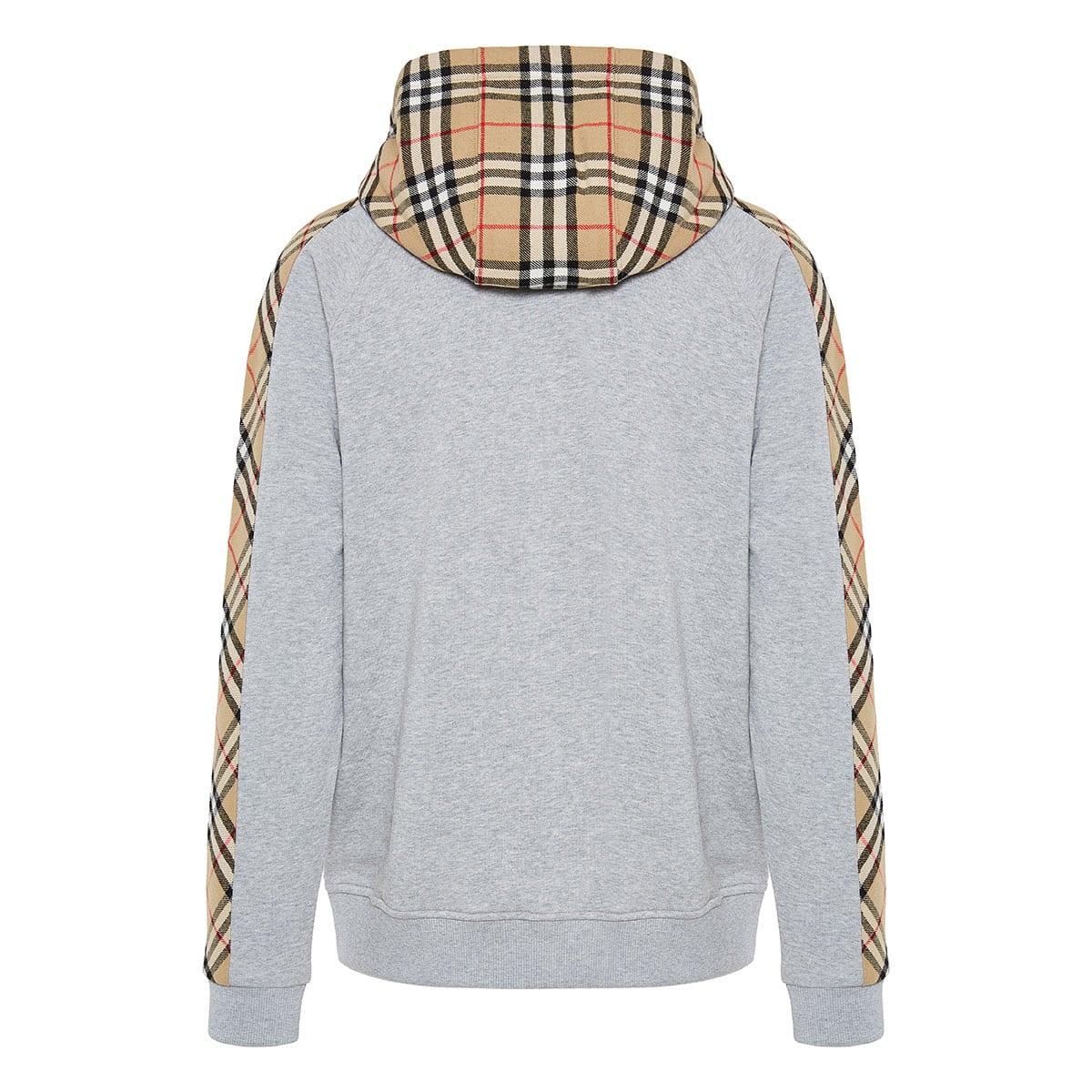 Vintage Check zipper hoodie