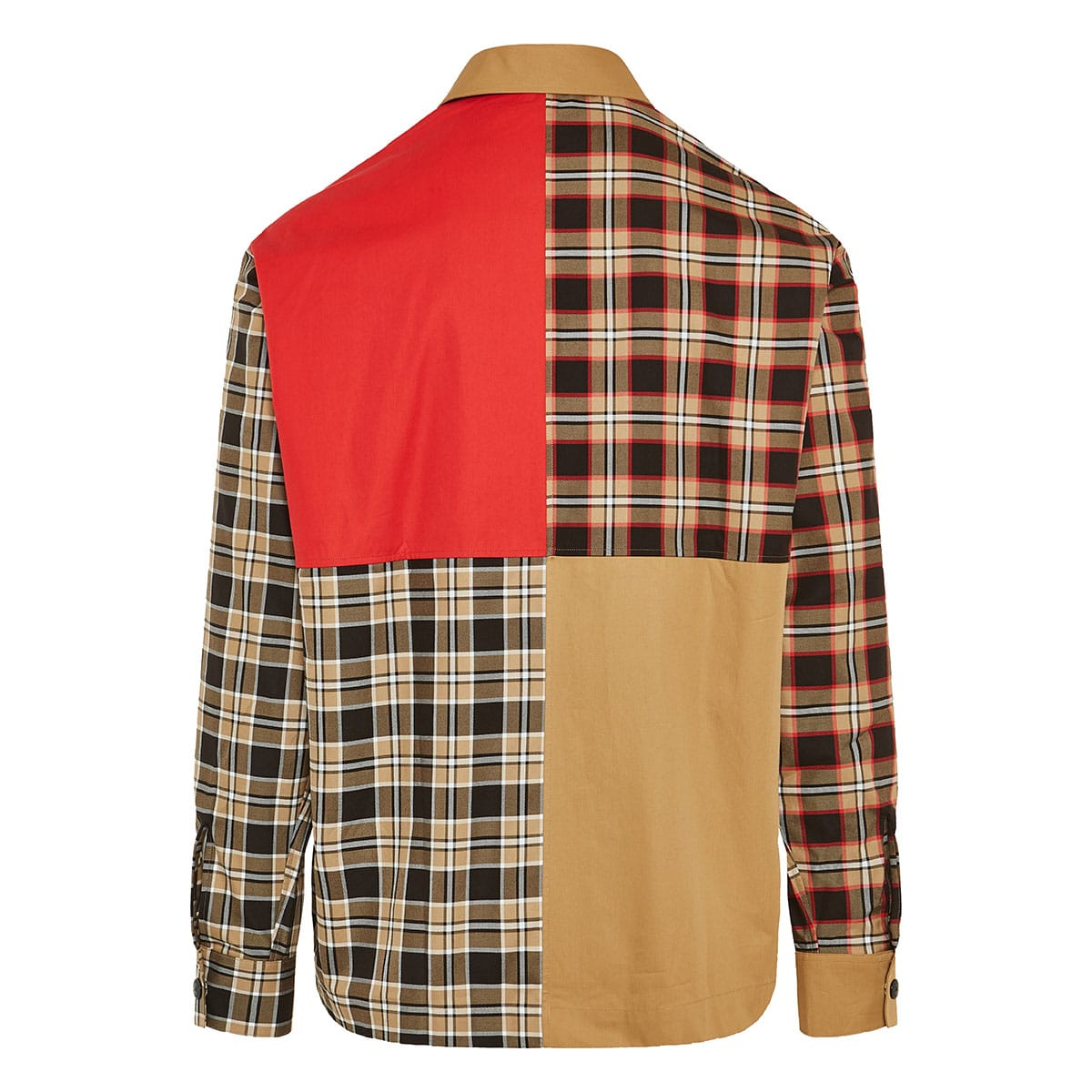 Patchwork checked overshirt