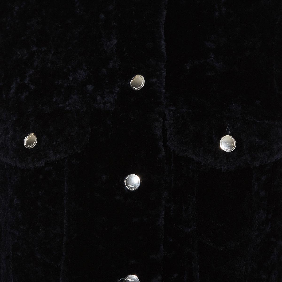 Shearling gilet jacket