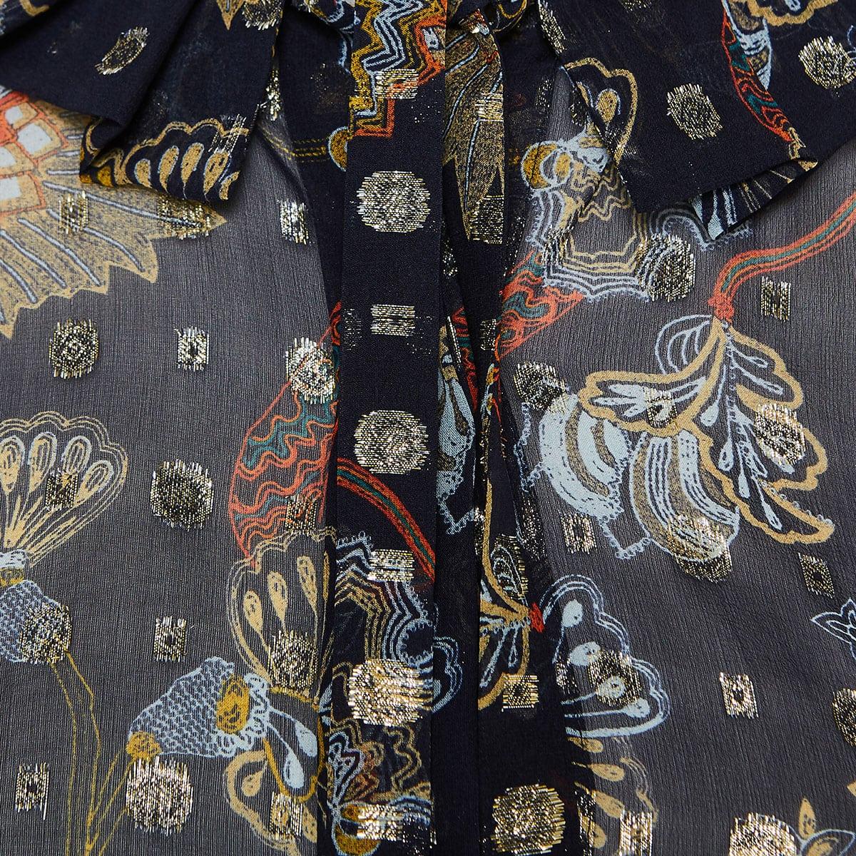 Printed chiffon shirt