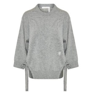 Cashmere sweater with side-ties
