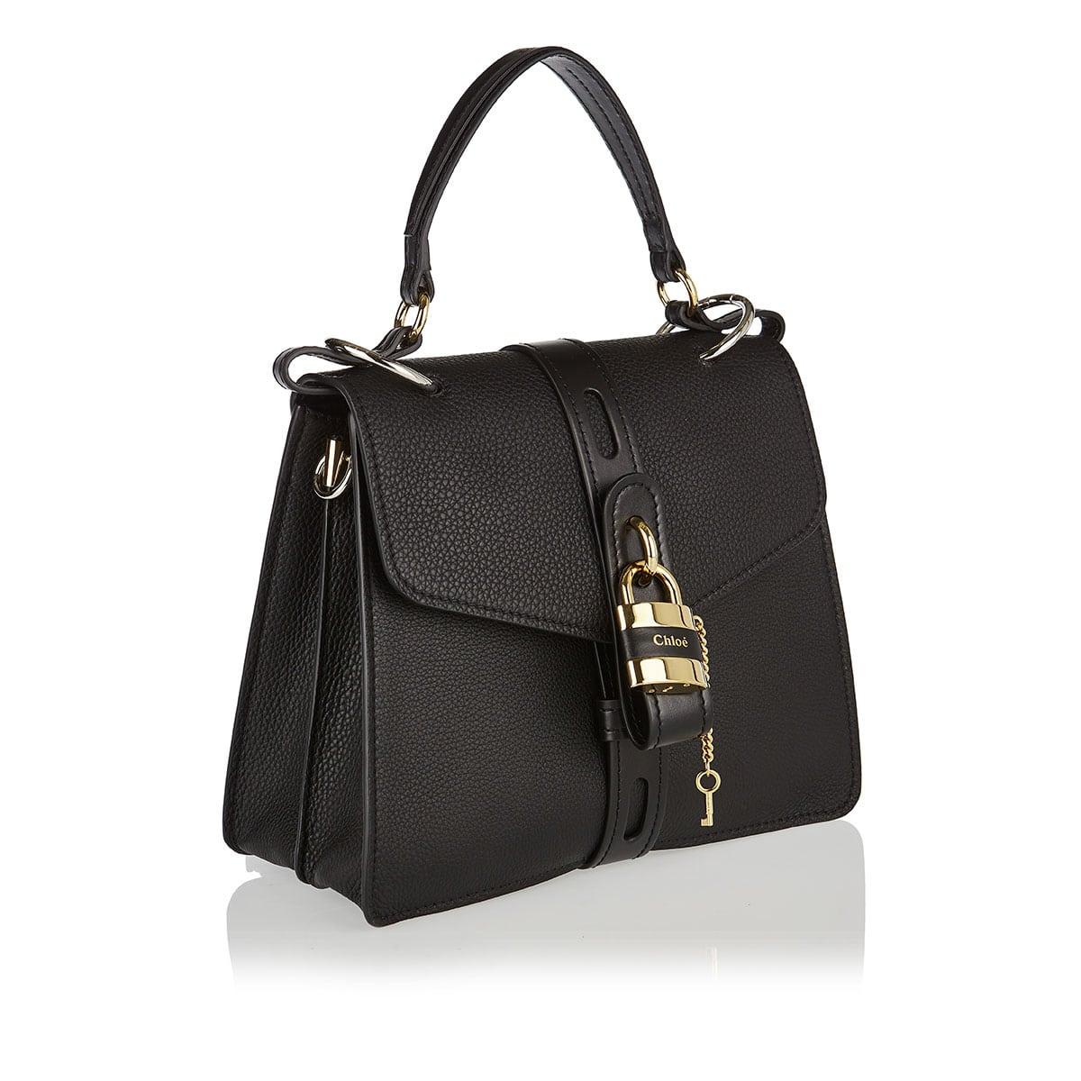 Aby medium leather shoulder bag