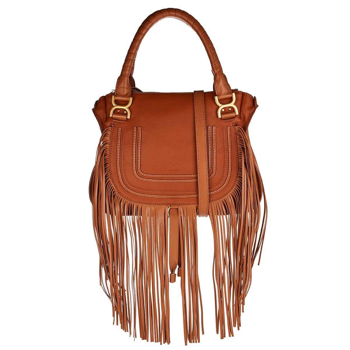 Marcie fringed leather bag