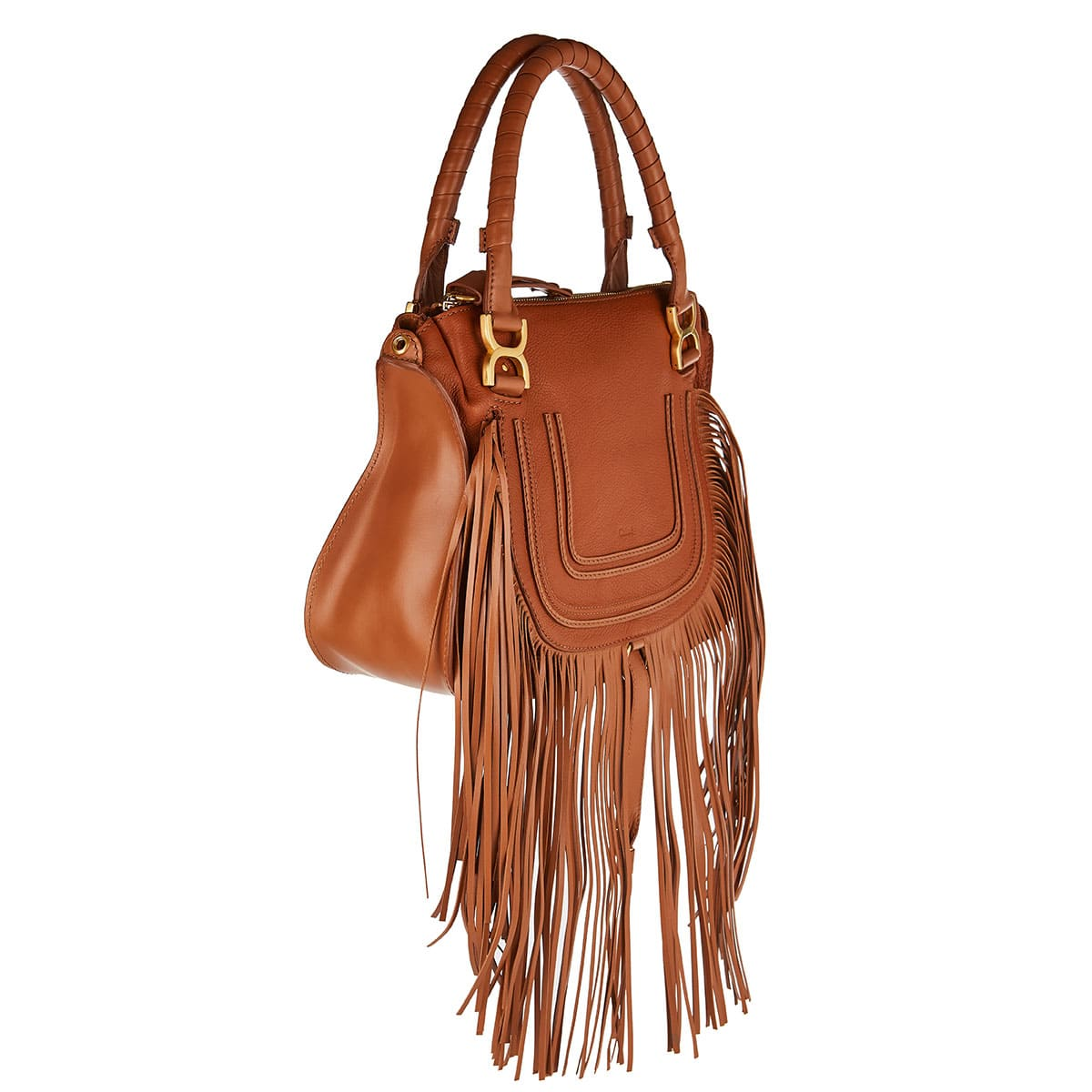 Marcie fringed leather bag