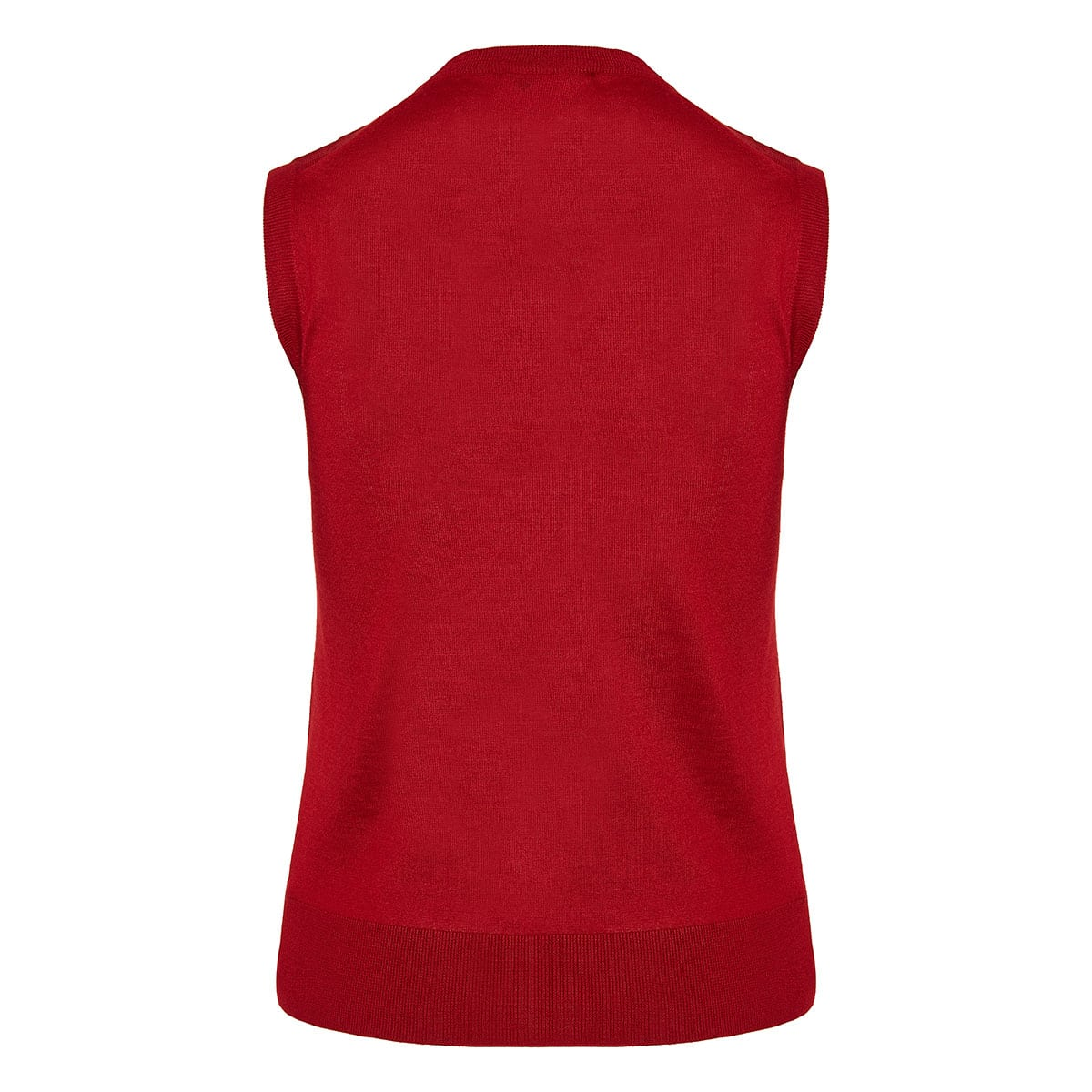 Sleeveless cashmere-knitted top