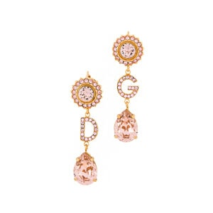DG crystal-embellished drop earrings