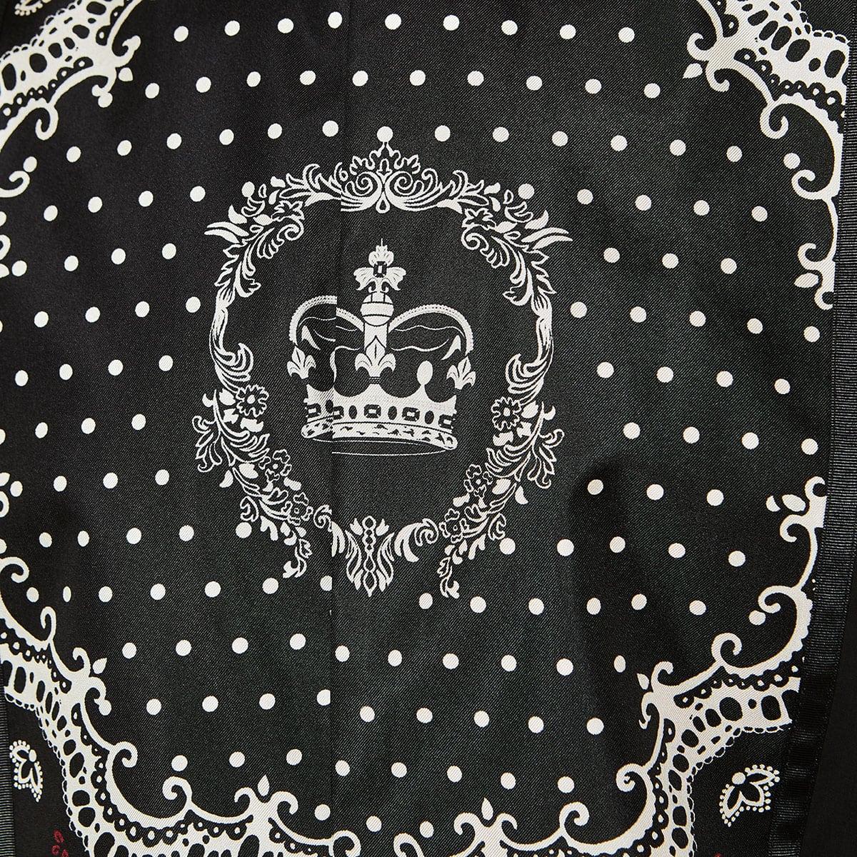 Printed-bib poplin shirt