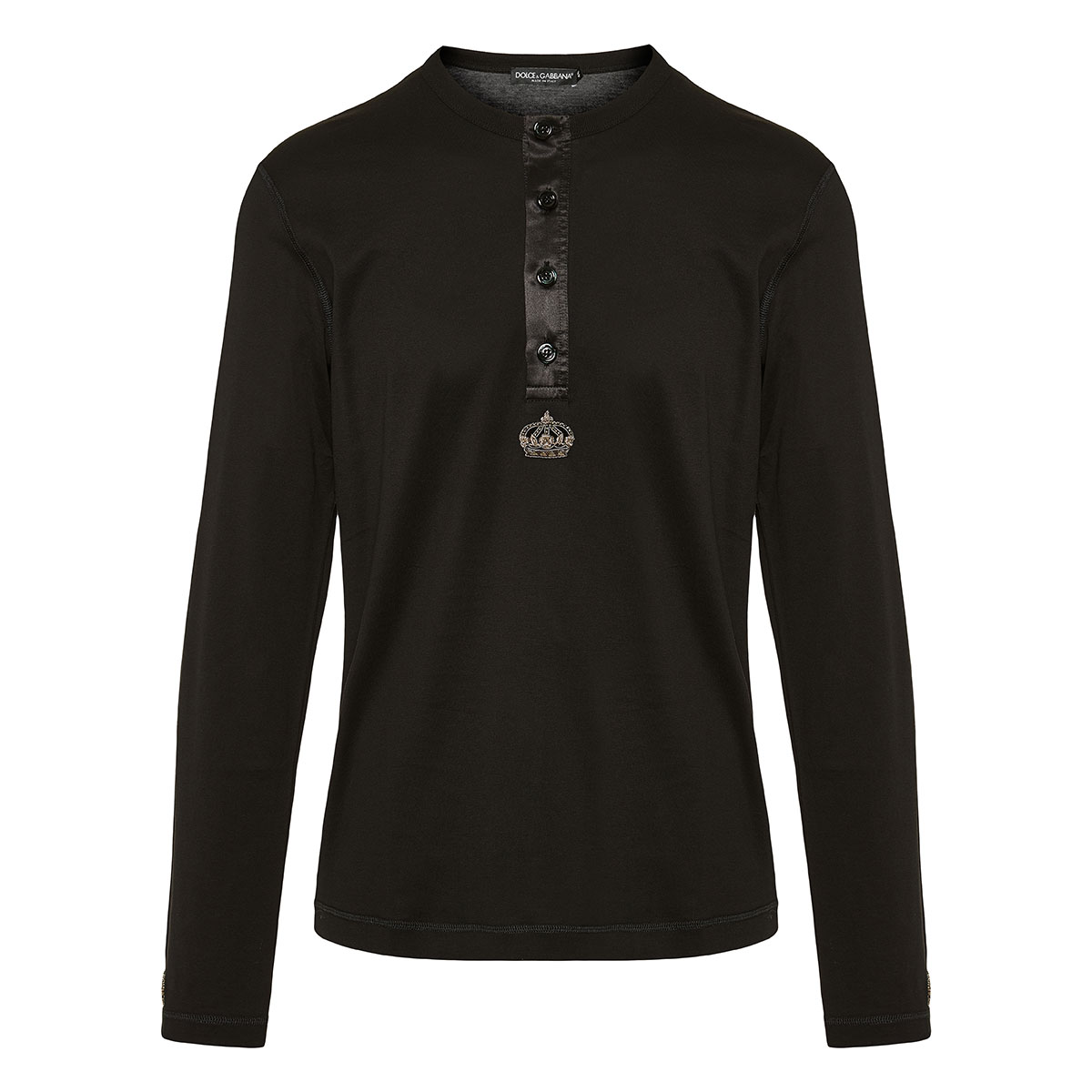 Jersey blouse with crown patch