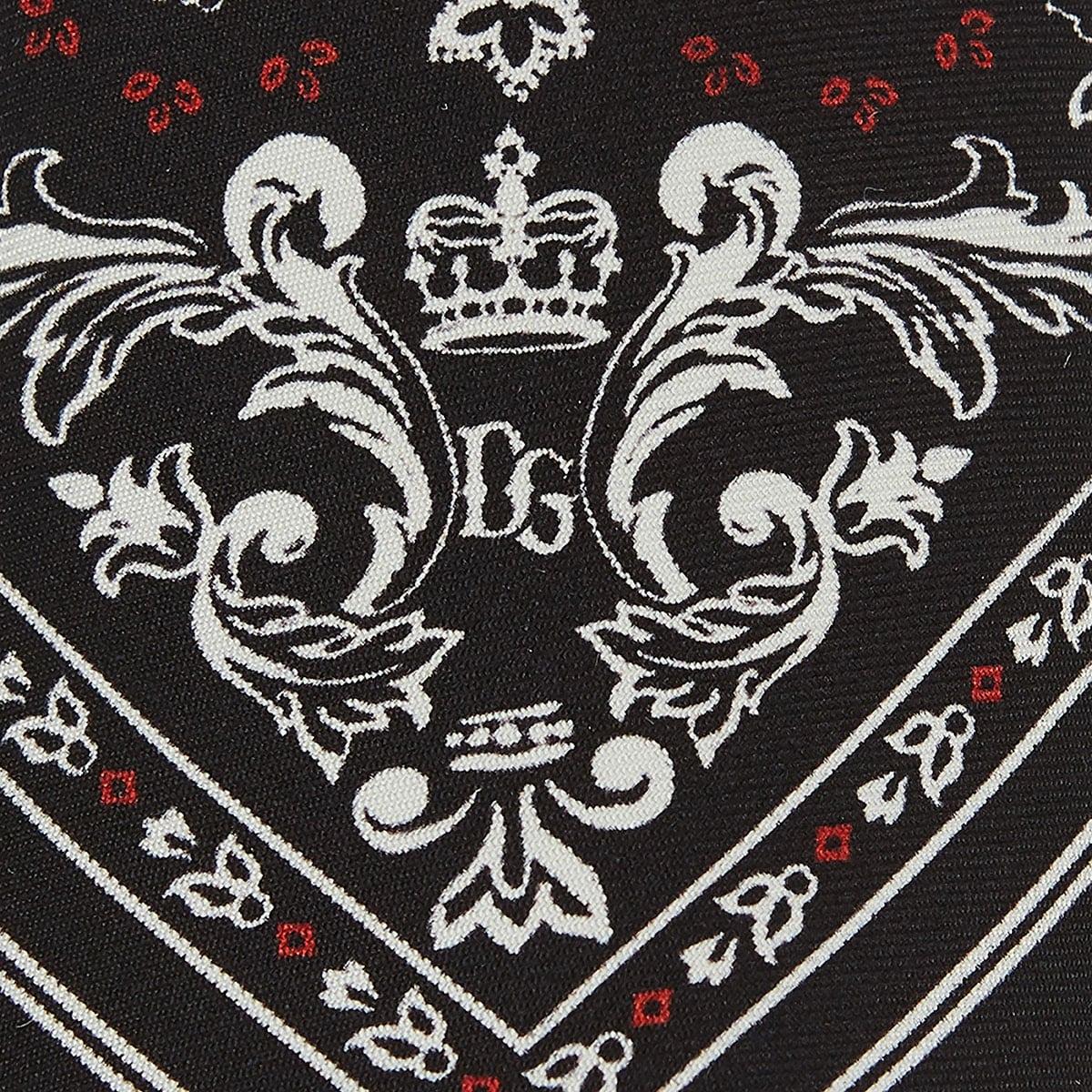 Bandana print silk tie