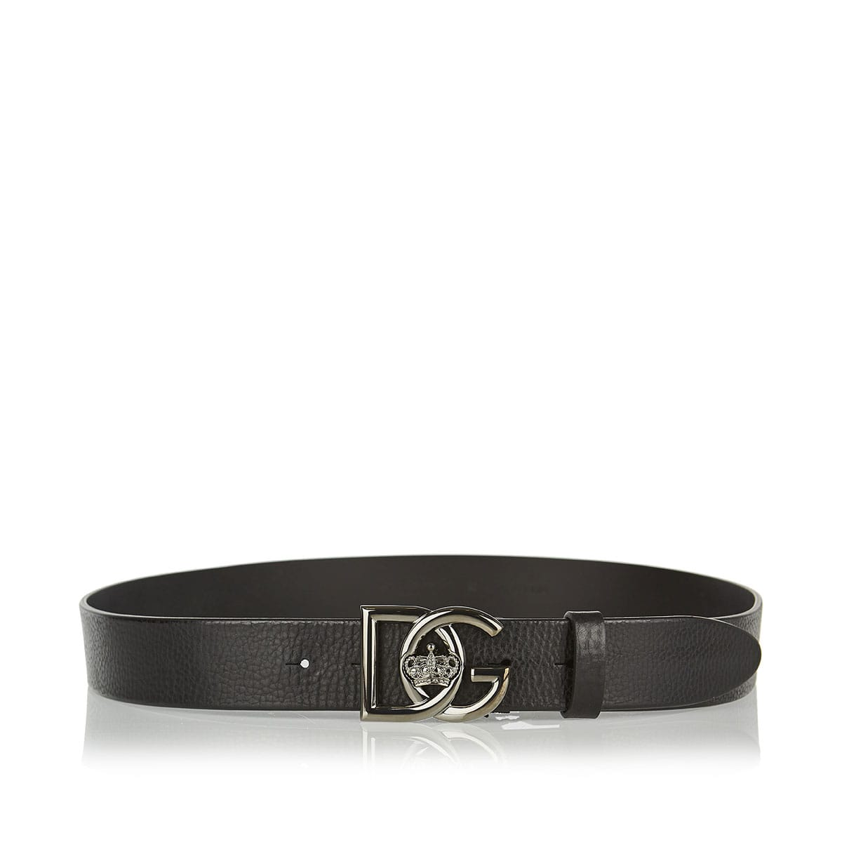 DG logo leather belt