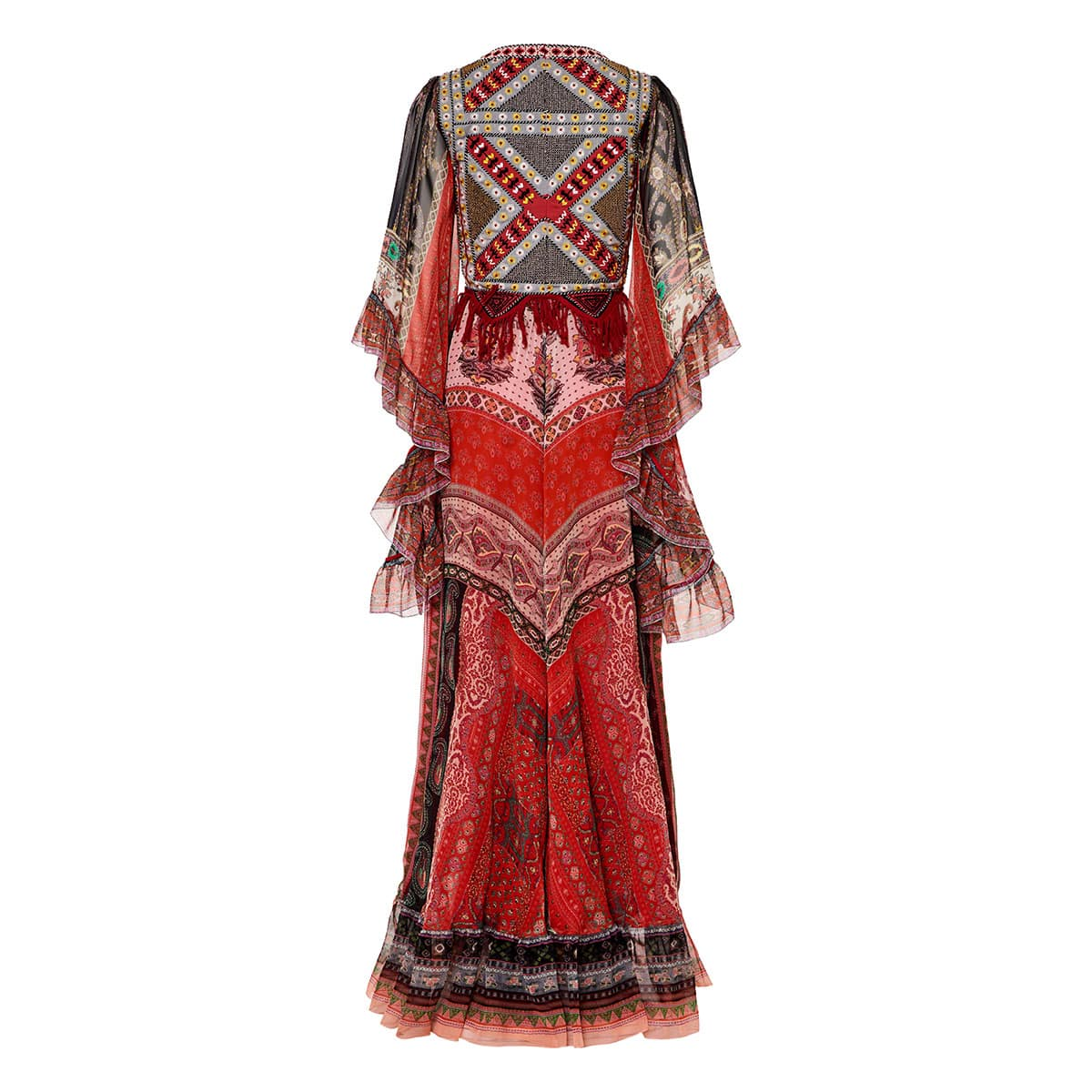Our Rosie paisley embroidered long chiffon dress