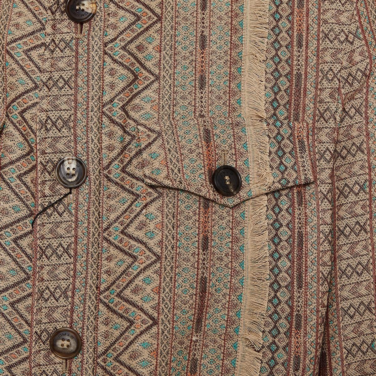 Sahariana printed jacquard jacket