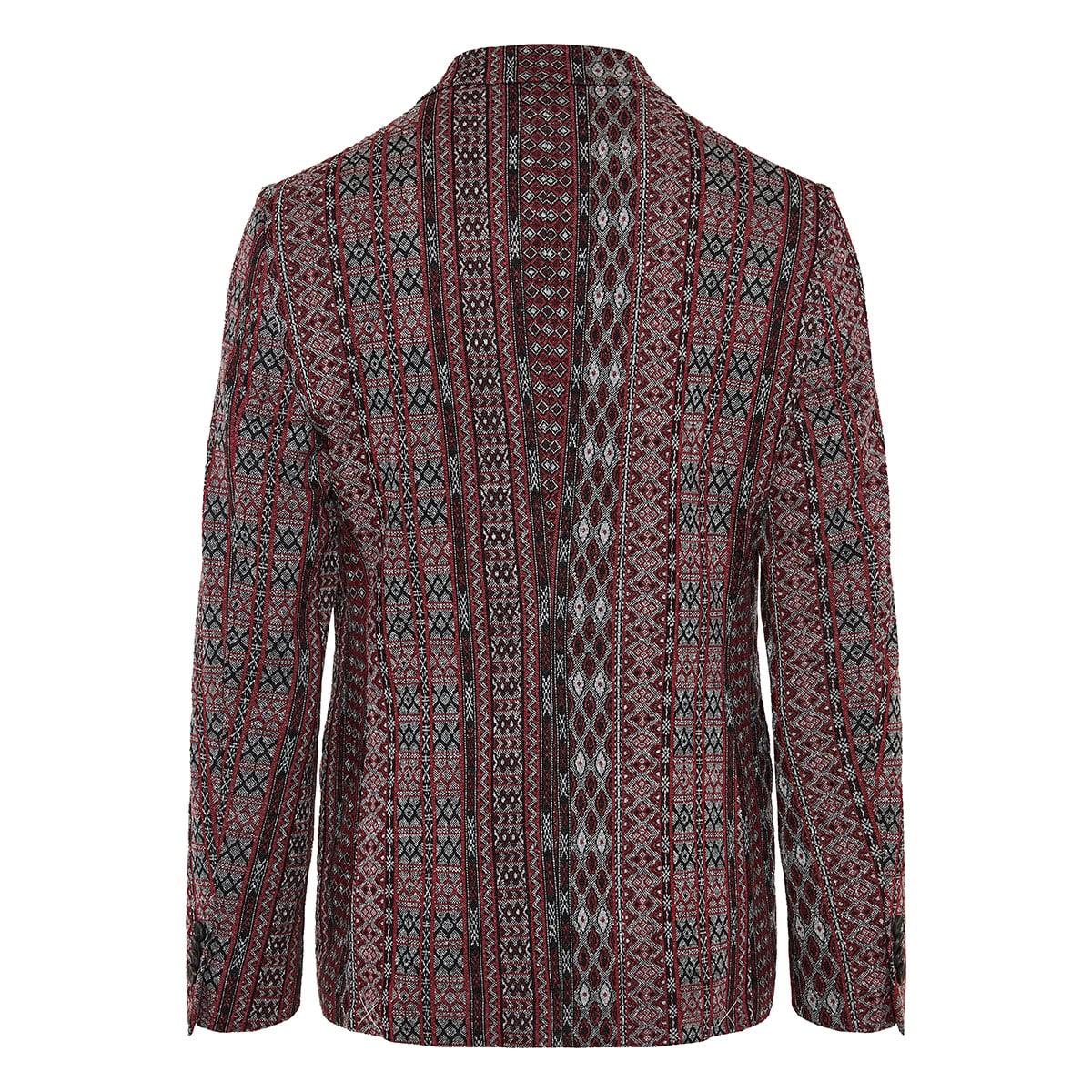 Jacquard printed blazer