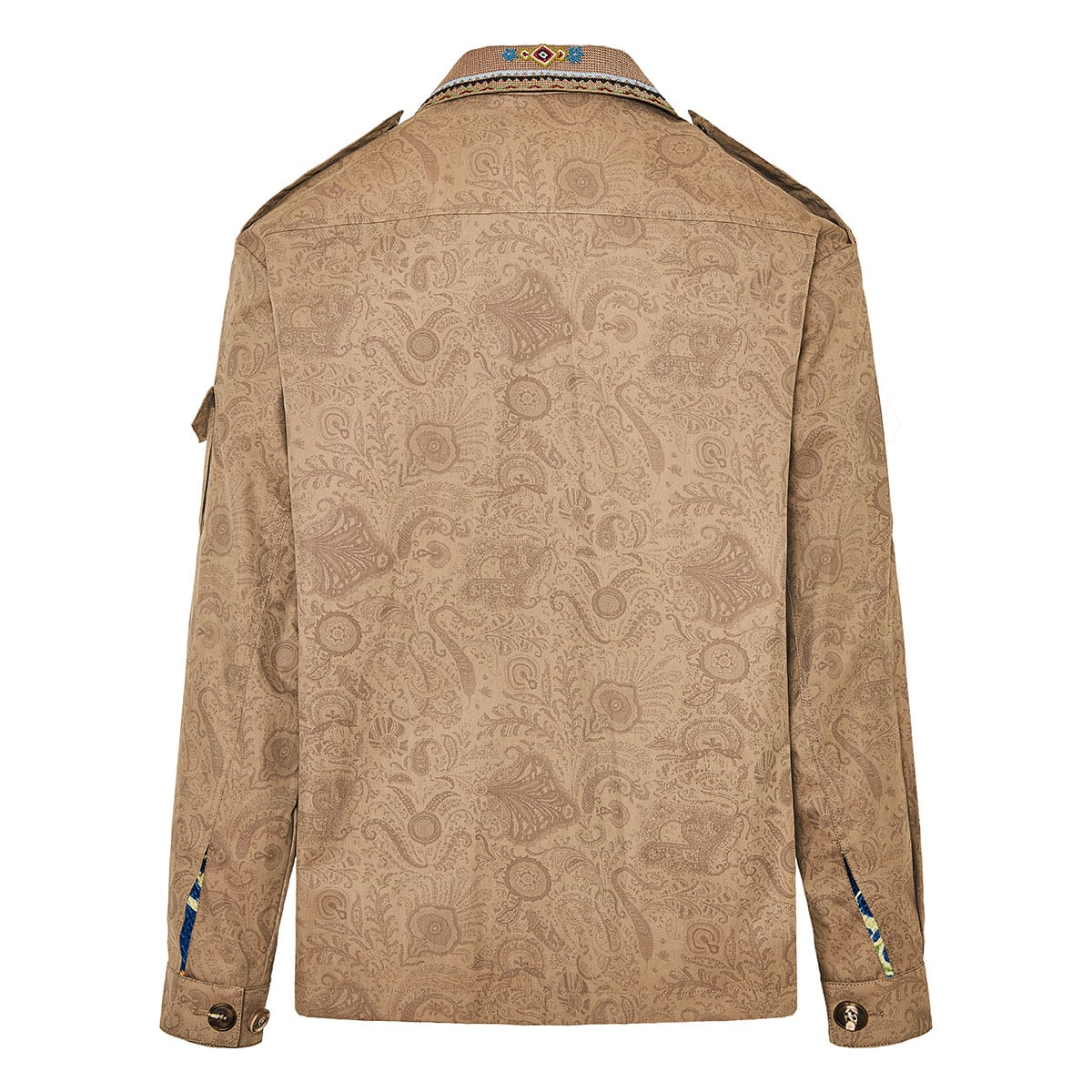 Embroidered paisley print jacket