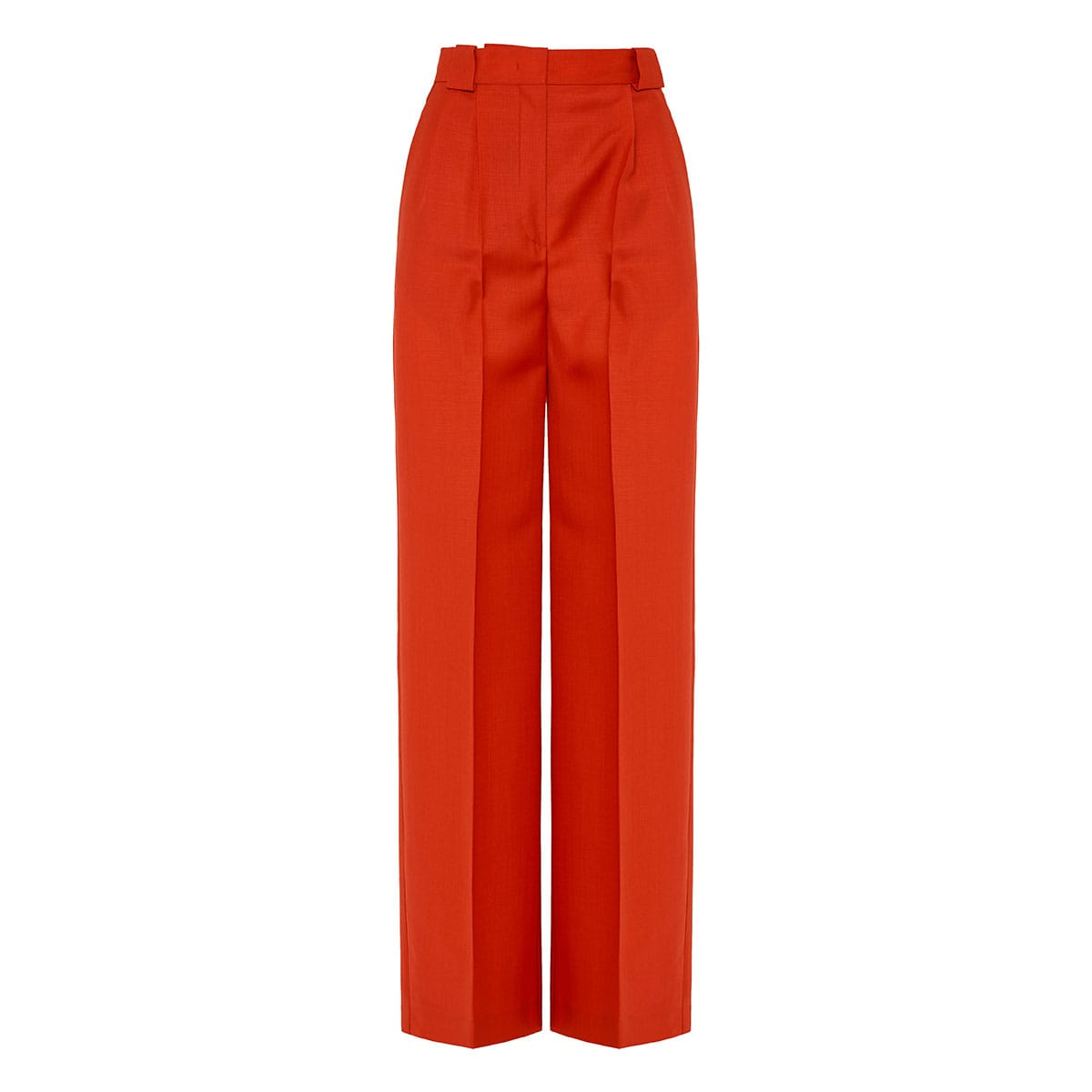 High-waist darted tailored trousers