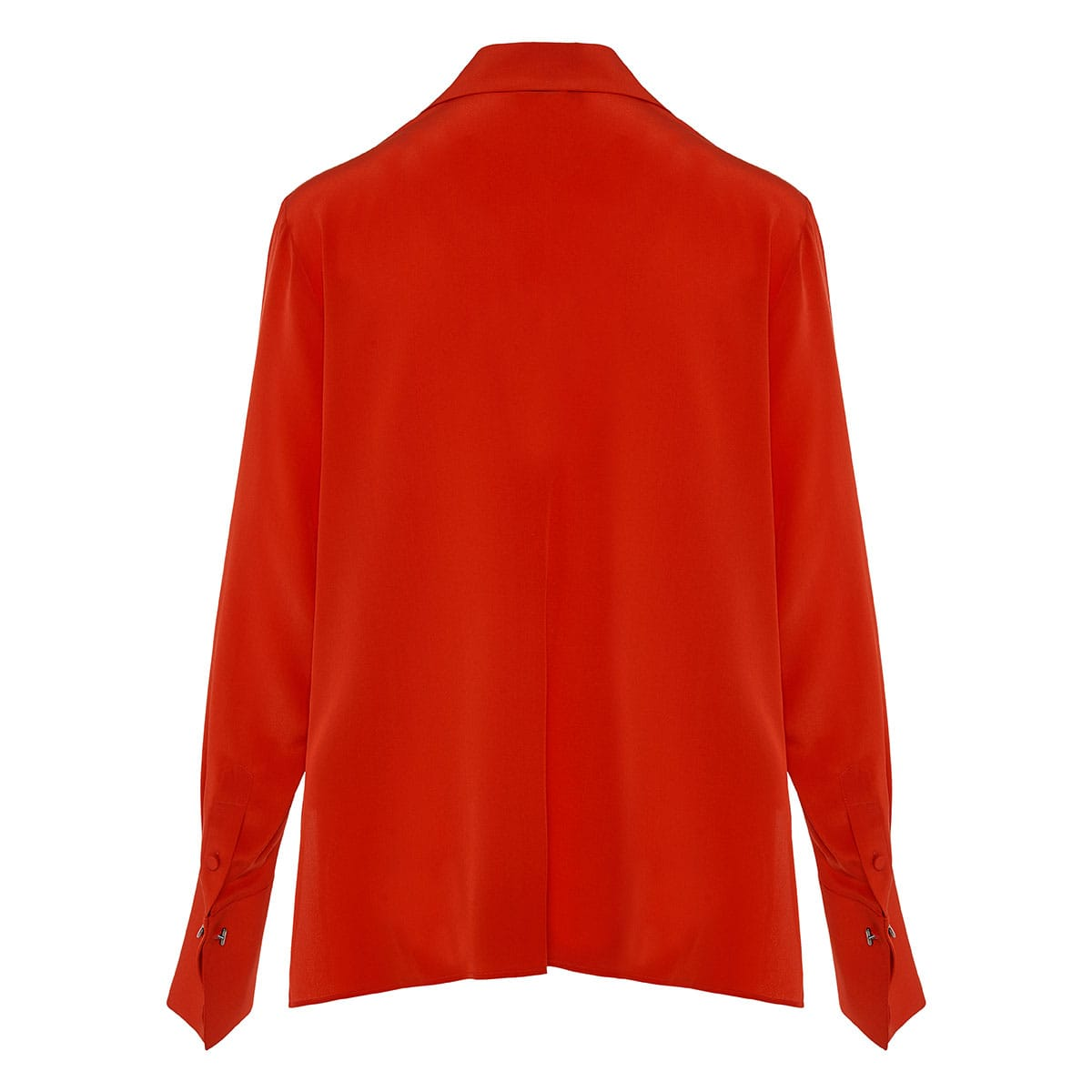 V-neck silk shirt