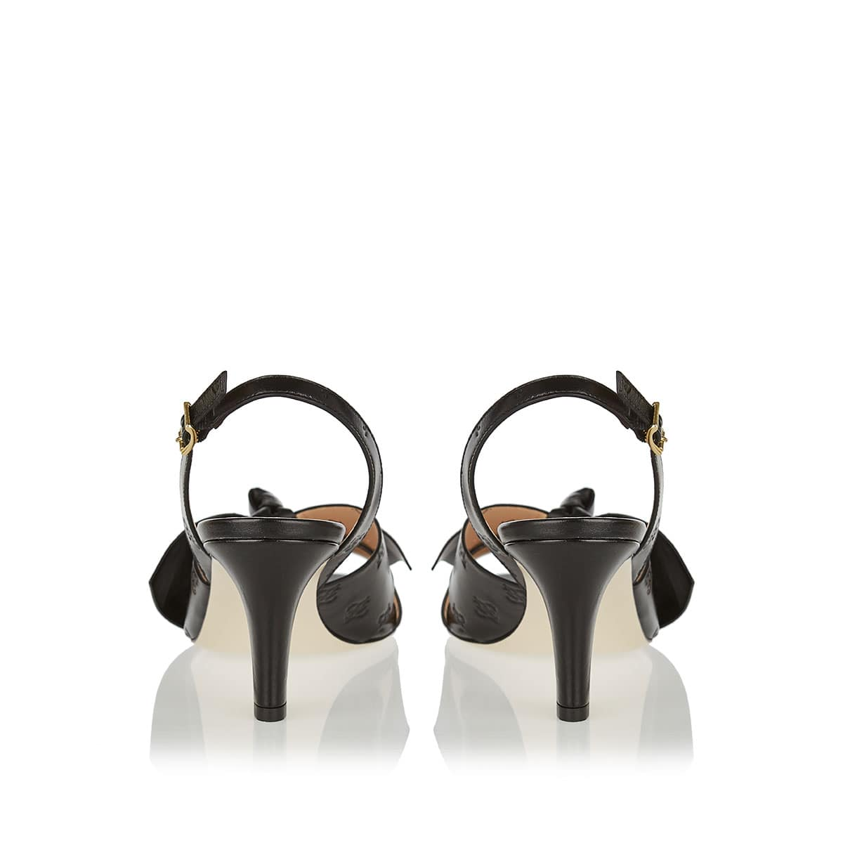 FFreedom bow leather sandals