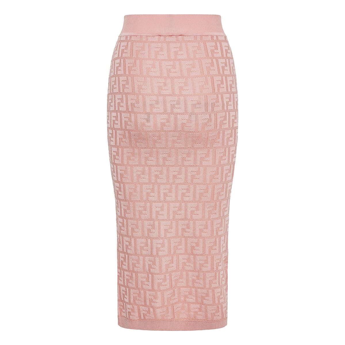 FF jacquard-knitted pencil skirt