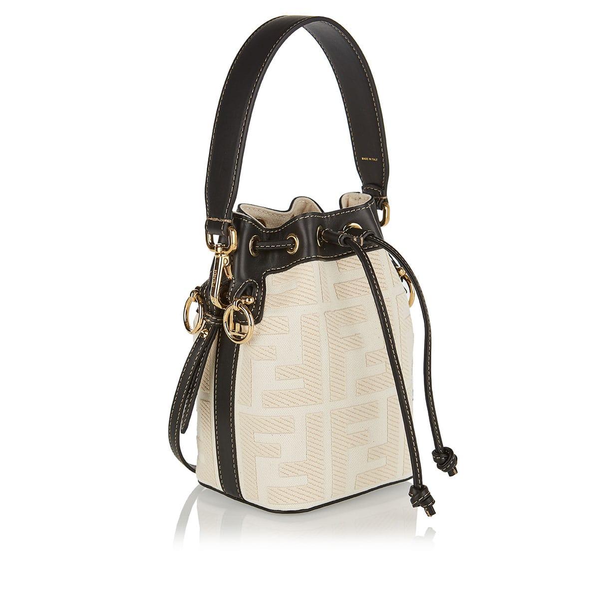 Mon Tresor FF mini canvas bucket bag