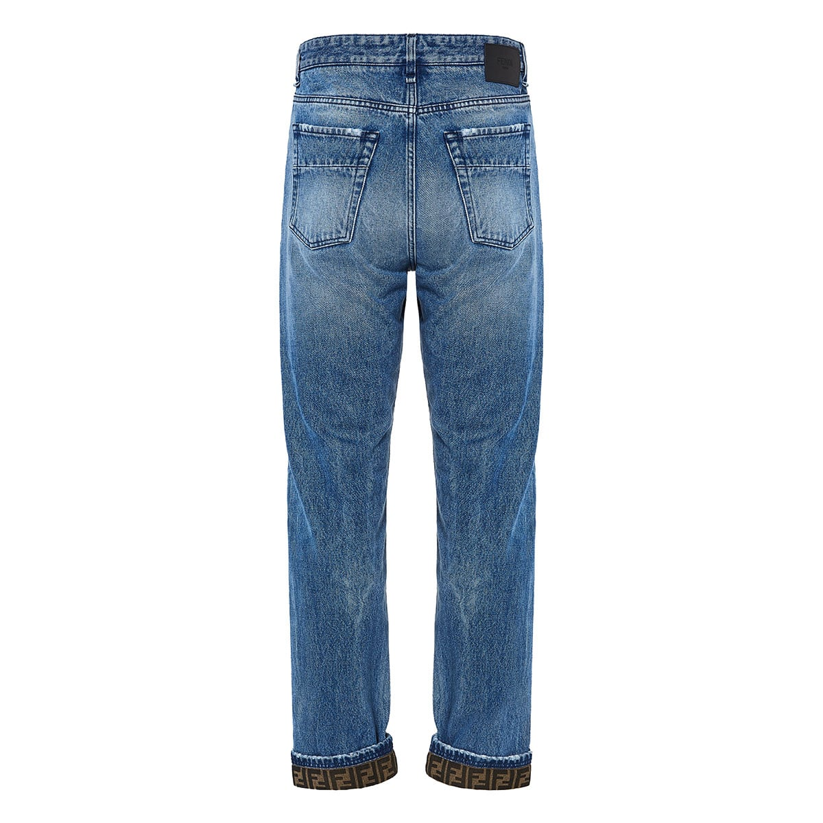 FF-detailed distressed jeans