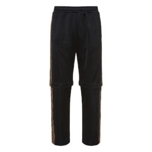 FF-detailed detachable nylon trousers