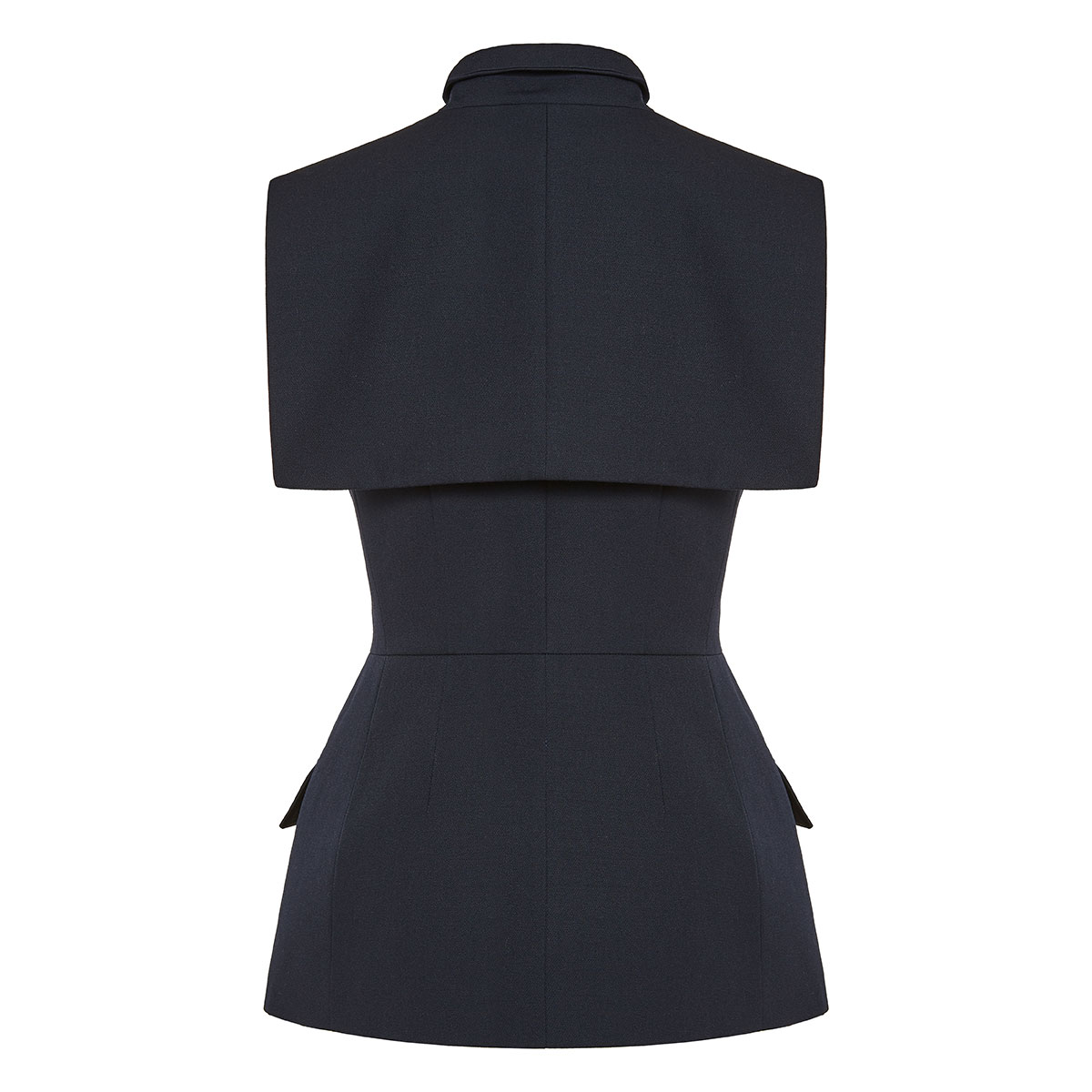 Embellished asymmetric blazer vest