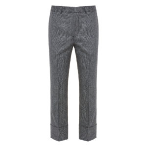 Houndstooth cropped tailored trousers