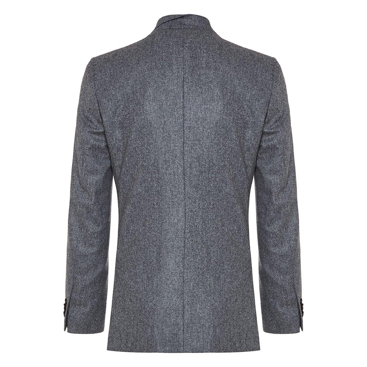 Asymmetric double-breasted blazer
