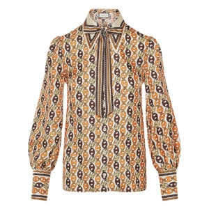 Marina Chain printed silk shirt