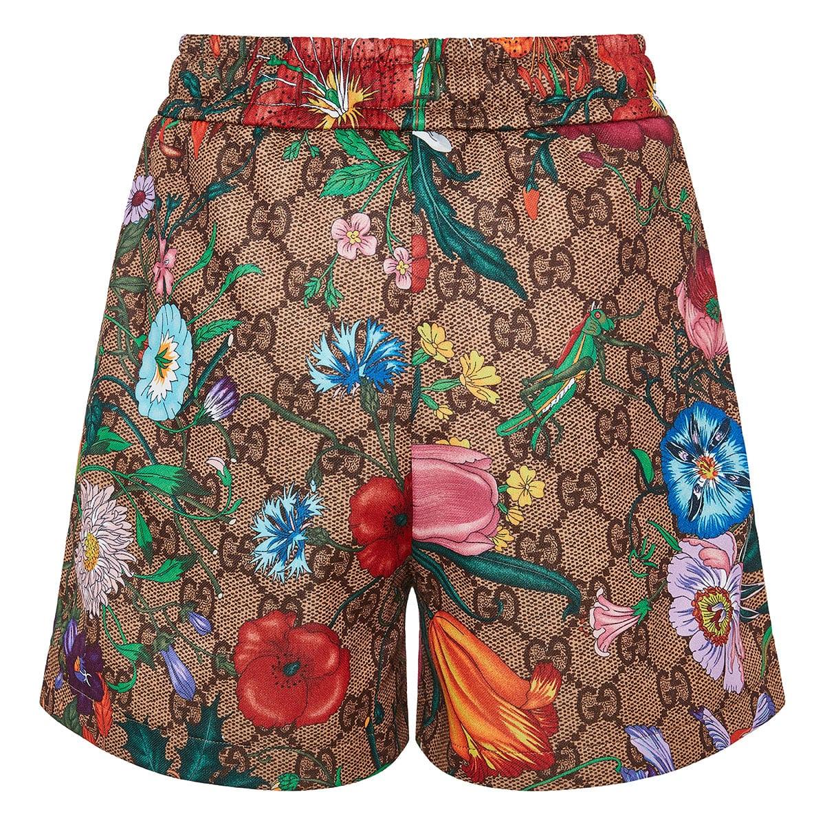 GG Flora printed shorts